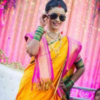 Akshaya Gurav in wedding Dress