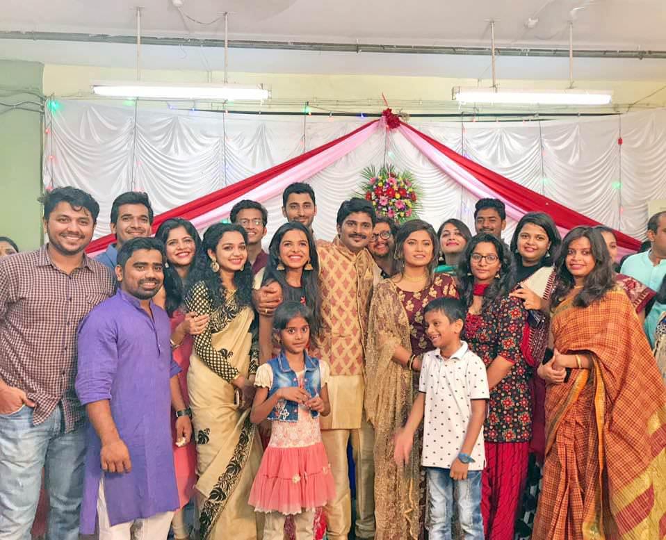 Freshers Serial Cast at Rasika Vengurlekar & Anirudha Shinde Engagement