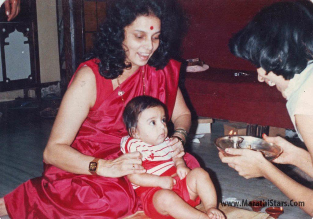 Gashmeer Mahajani Childhood Photo with His Mother