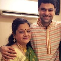Piyush Ranade with His Mother