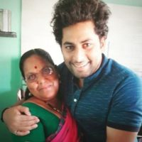 Raj Hanchanale with his Mother