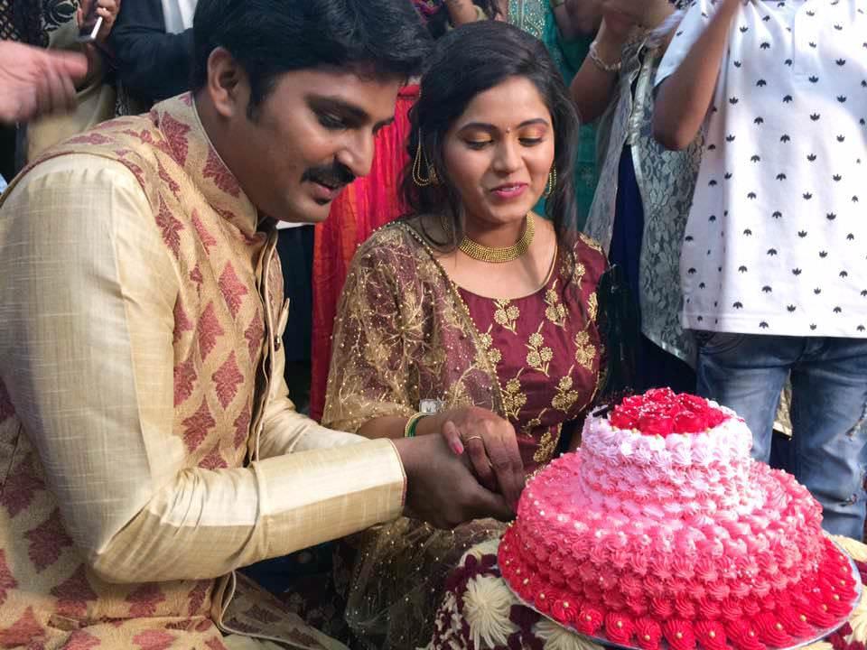 Rasika Vengurlekar & Director Anirudha Shinde Engadgement Photos