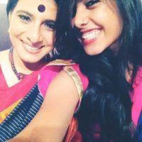 Sakhee Gokhale with mother Shubhangi Gokhale