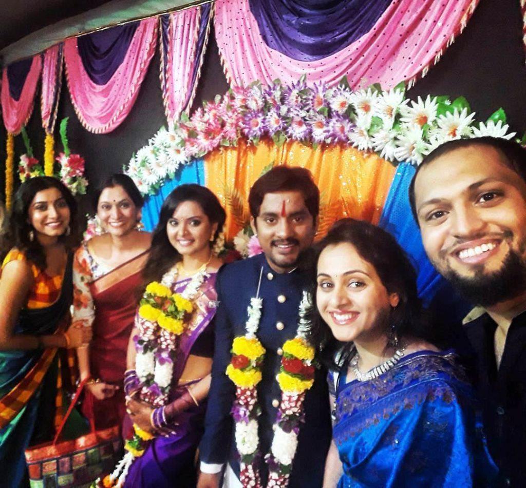 Sangram Salvi & Khushboo Tawde Marathi Actors Engagement photos