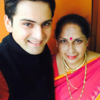 Siddarth Chandekar with His Mother