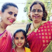 Sonali Khare with her Mother