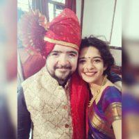 Mithila Palkar & Nipun Dharmadhikari at Amey Wagh mariage