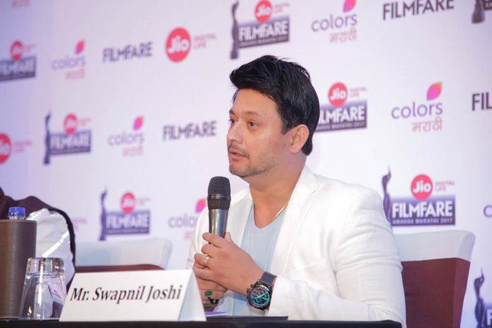 Swapnil Joshi at the Jio Filmfare Awards Marathi 2017