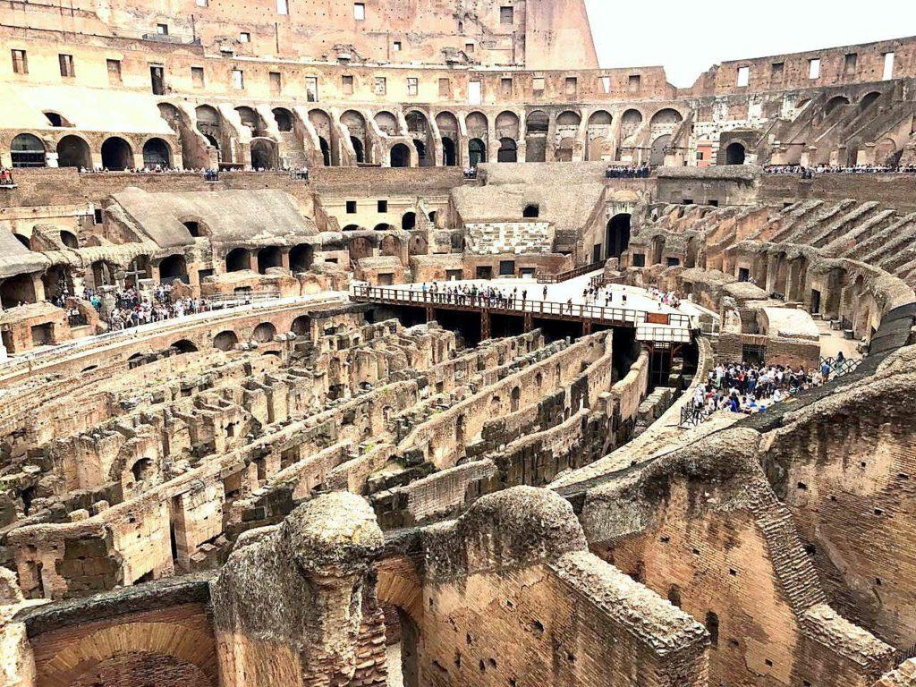 InsideThe Roman Colosseum