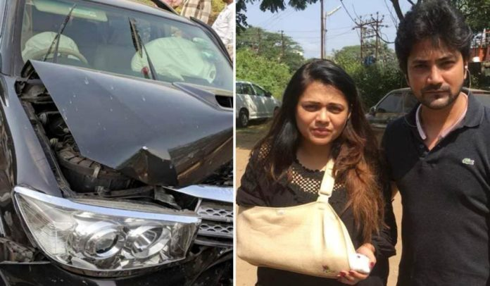 Prarthana Behere & Aniket Vishwasrao Car Accident Lonavala