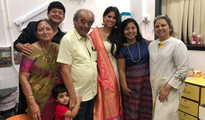 Sai Tamhankar and Swwapnil Joshi and Swwapnil Joshi's wife