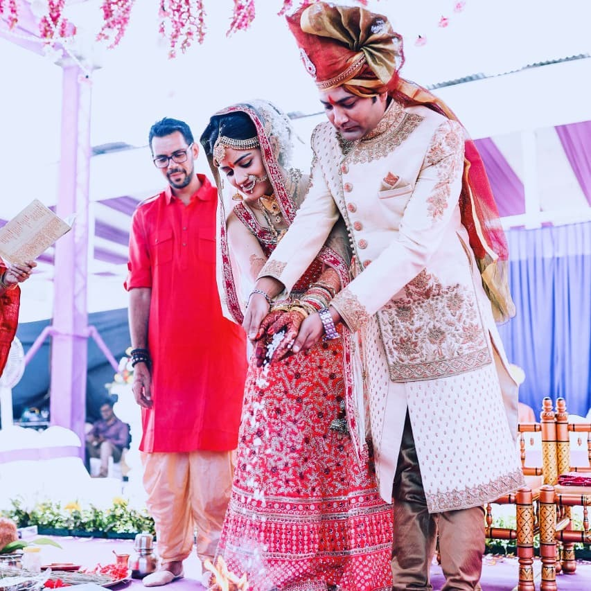 Sneha Chavan and Aniket Vishwasrao