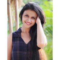 Ritika Shrotri in black dress
