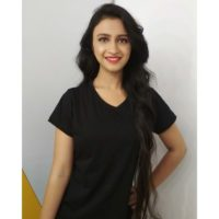 Ritika Shrotri wearing black