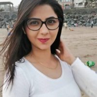 Veena Jagtap Marathi Actress Photo on Goggles