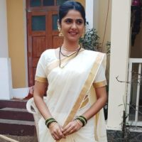 Veena Jagtap Marathi Actress Photo on Saree