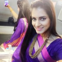 Sarita Mehendale Joshi Saree Selfiw