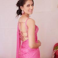 Sarita Mehendale Joshi in Pink Saree