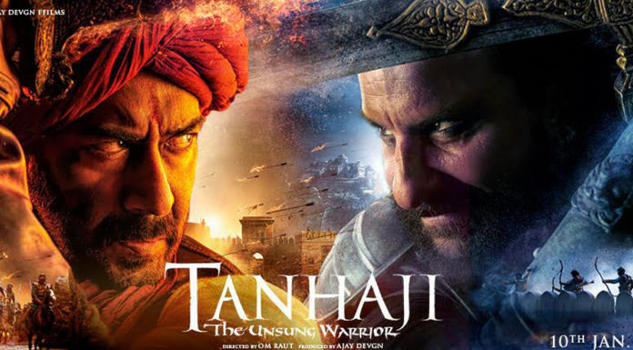Tanhaji Bollywood Movie in Marathi Language - Ajay Devgan Sharad Kelkar Saif Ali Khan